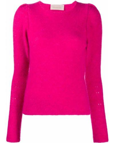 Вязаный акриловый розовый вязаный джемпер круглый Chiara Bertani