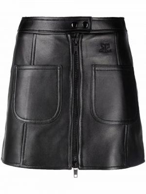 Czarna spódniczka mini Courreges