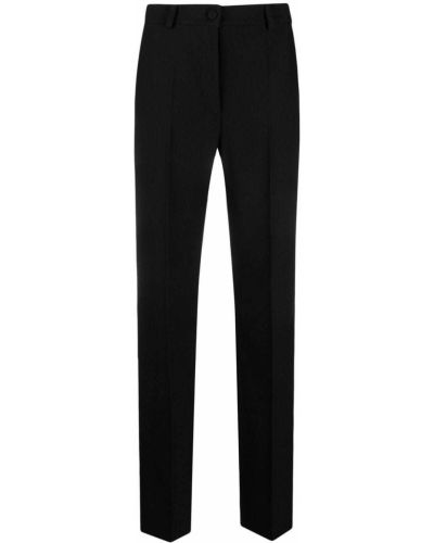 Kostium czarny spodni garnitur z paskiem Hebe Studio