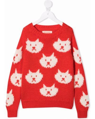 Prążkowany długi sweter wełniany z długimi rękawami The Animals Observatory
