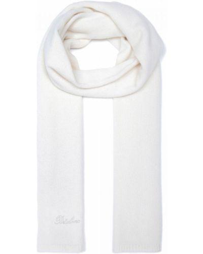 Трикотажный белый шарф Portolano