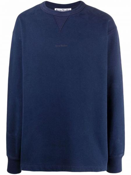 Niebieska bluza z długimi rękawami Acne Studios