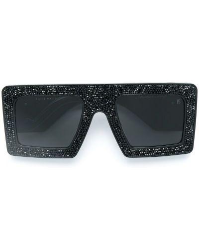 Муслиновые черные солнцезащитные очки квадратные Anna Karin Karlsson