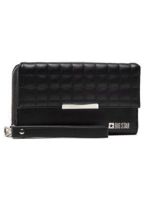 Czarny portfel oversize Big Star
