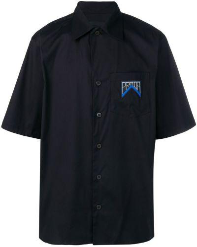 Рубашка с короткими рукавами с карманами на пуговицах Prada