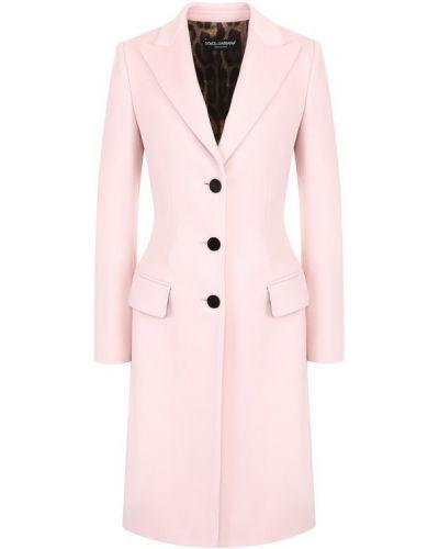 Пальто приталенное шерстяное Dolce & Gabbana