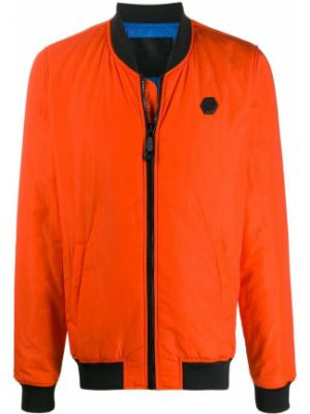Оранжевая куртка с манжетами Philipp Plein