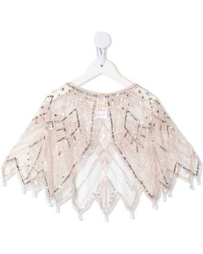Różowa narzutka z diamentem z nylonu Tutu Du Monde