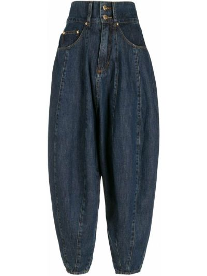 Хлопковые синие брюки классические Amapô