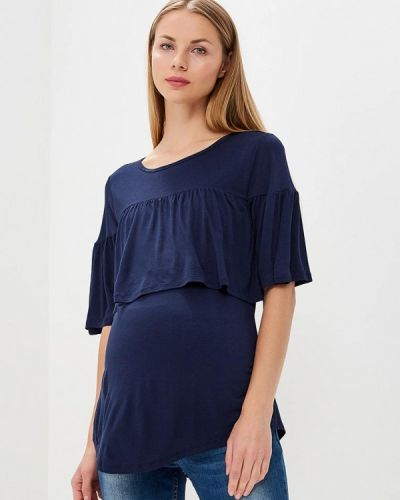 Синее поло Gap Maternity