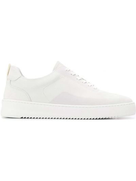 Biały sneakersy okrągły z prawdziwej skóry zasznurować Filling Pieces