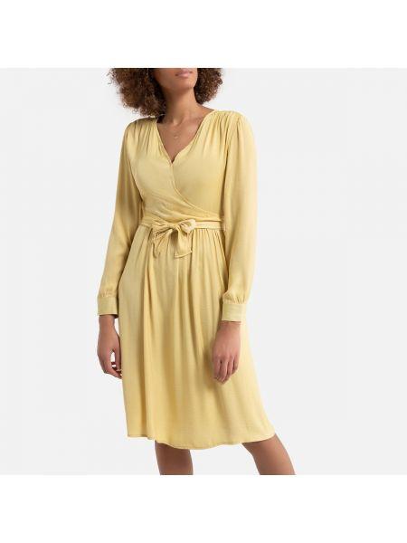 Вечернее платье миди с запахом La Redoute