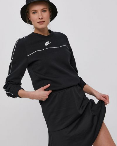 Czarna bluza długa z kapturem z długimi rękawami Nike Sportswear