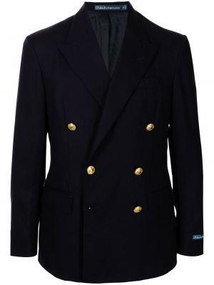 Niebieska marynarka wełniana z długimi rękawami Polo Ralph Lauren