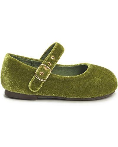 Туфли зеленый бархатный Age Of Innocence
