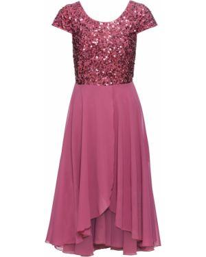 Вечернее платье шифоновое фиолетовый Bonprix