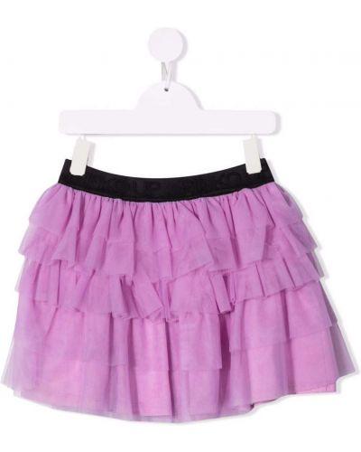 Spódnica bawełniana - fioletowa Pinko Kids