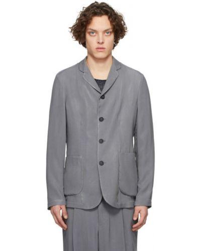 С рукавами удлиненный пиджак с накладными карманами с воротником Giorgio Armani