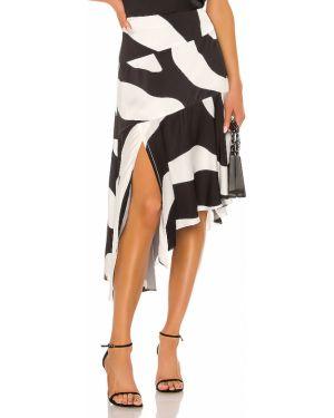 Czarna spódnica mini asymetryczna z wiskozy Milly