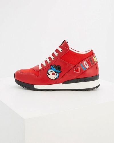 Красные кроссовки Love Moschino