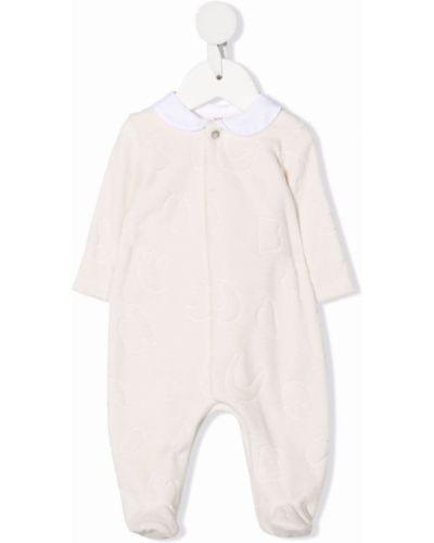 Piżama z długimi rękawami - biała Knot