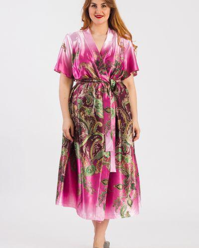 Халат с запахом розовый Lacywear