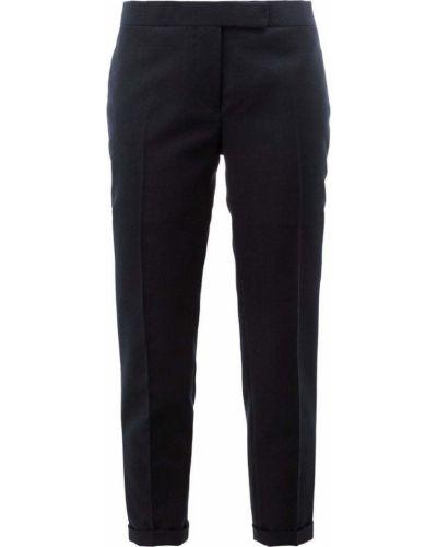 Укороченные брюки деловые шерстяные Thom Browne