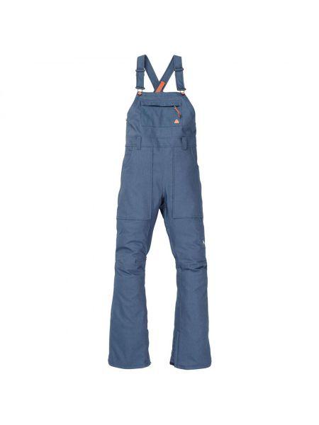 Синие спортивные брюки стрейч сноубордические на кнопках Burton