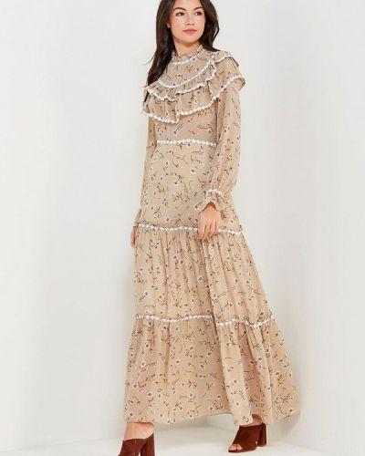 Платье весеннее бежевое Paccio