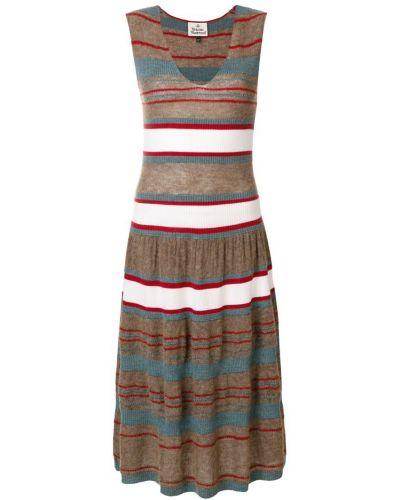 Коричневое платье Vivienne Westwood