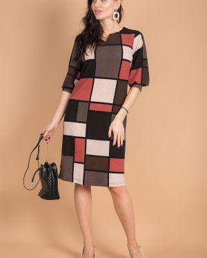 Платье с поясом платье-сарафан красный Taiga