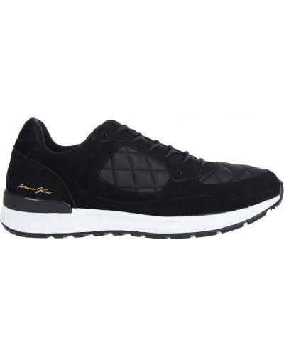 Черные кроссовки замшевые Armani Jeans