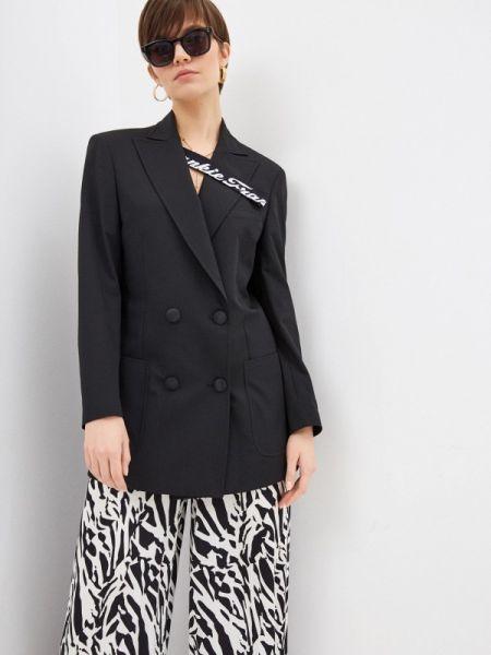 Черный итальянский пиджак Frankie Morello