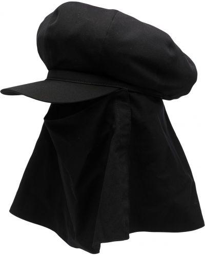 Czarny kapelusz wełniany Yohji Yamamoto