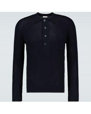 Темно-синяя классическая рубашка с воротником с заплатками с карманами Cmmn Swdn