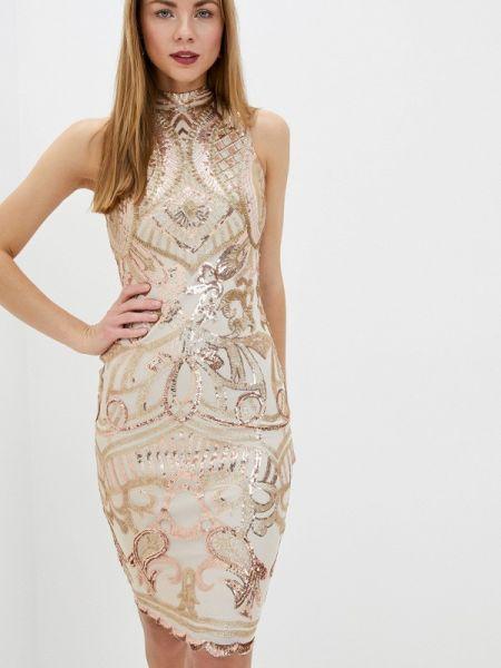 Вечернее платье бежевое весеннее Goddiva