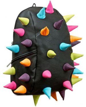 Czarny plecak skórzany klamry Madpax