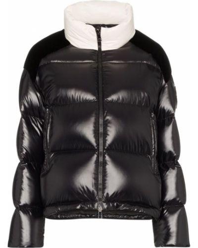 Спортивная куртка черная длинная Moncler