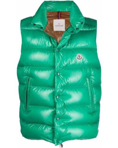 Kamizelka pikowana - zielona Moncler