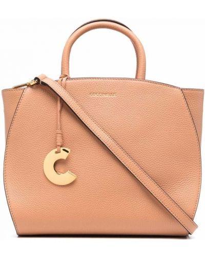 Кожаная сумка - оранжевая Coccinelle