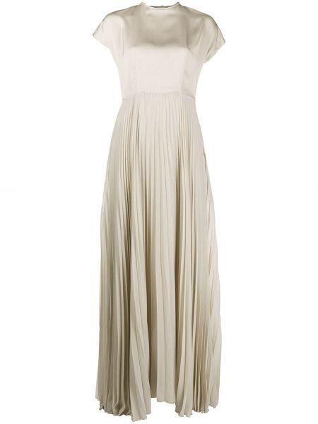 Satynowa sukienka mini krótki rękaw Peserico