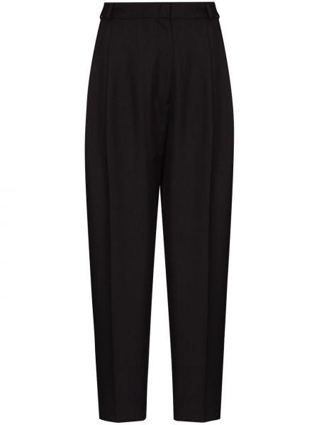 Шерстяные черные брюки с высокой посадкой Anouki