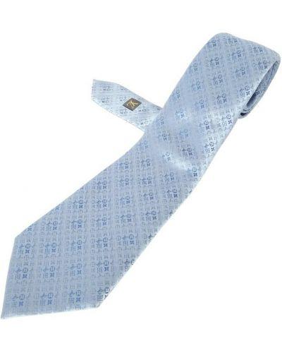 Niebieski krawat z jedwabiu Louis Vuitton Vintage
