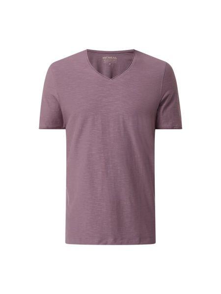 Fioletowy t-shirt z dekoltem w serek bawełniany Mcneal