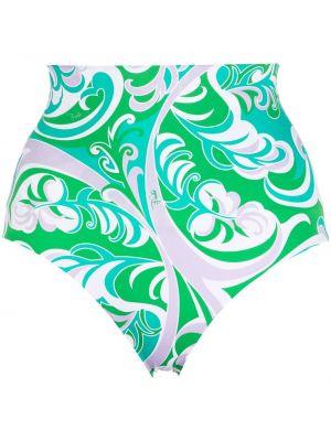 Зеленый купальник с принтом Emilio Pucci