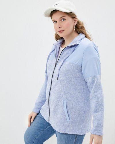 Голубая весенняя кофта Ulla Popken