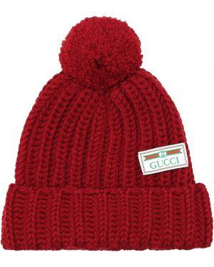 Czapka zimowa wełniany z haftem Gucci
