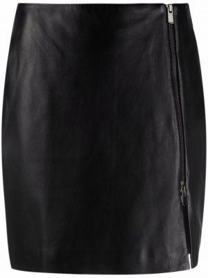 Черная кожаная юбка Arma