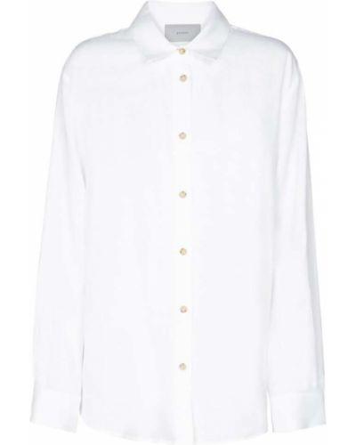 Льняная белая рубашка Asceno