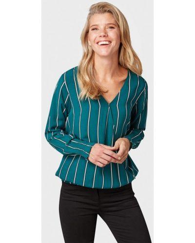 Блузка с длинным рукавом осенняя зеленый Tom Tailor